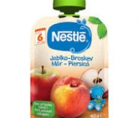 Piure Nestle cu mere si piersici, 90g, de la 6 luni