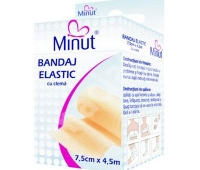 Bandaj elastic cu clema, 7,5 cm x 4,5 m, Minut