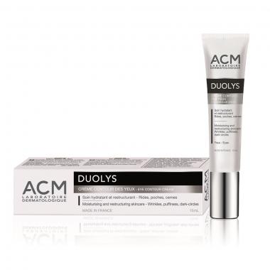 Cremă hidratantă și restructurantă contur ochi Duolys, 15 ml, Acm