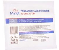 Pansament Adeziv Steril Pore Minut Vision Trading, 10 x 10 cm,