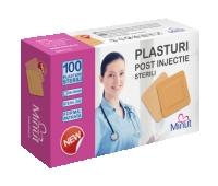 PLASTURI INJECTIE-STERILI 38x38MM 100BUC PVC