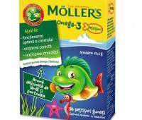 MOLLER'S OMEGA-3, 36 PESTISORI GUMATI cu aroma portocala