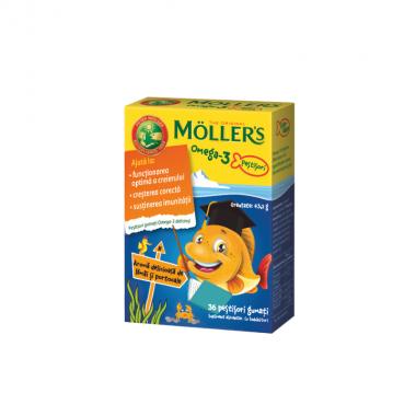 MOLLER`S OMEGA-3 AROMA portocala , 36 PESTISORI GUMATI
