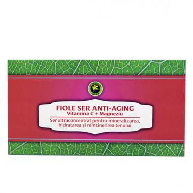 Set fiole Anti-Aging cu Vitamina C si Magneziu 12 buc.