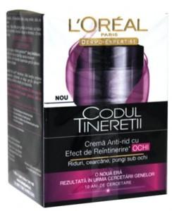 L'Oreal Codul Tineretii- Crema Anti-rid pentru Ochi