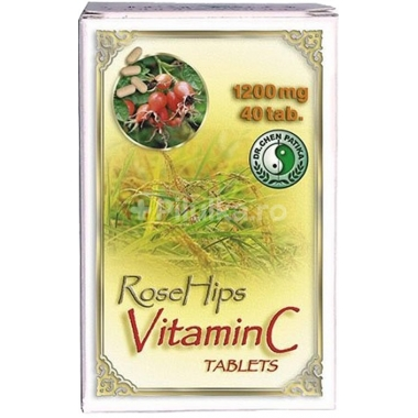 Vitamina c + extract de macese 40cps MIXT COM