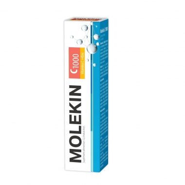 Molekin Vitamina C + Zinc, 20 comprimate efervescente