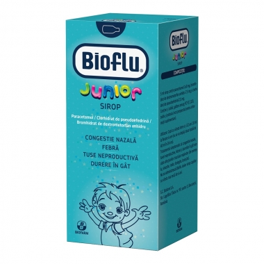 Bioflu Junior sirop, 100 ml, Biofarm
