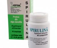 Spirulina cu extract total de catina 40 cpr.