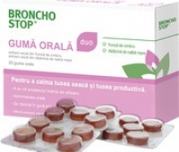 Bronchostop Duo gumă orală