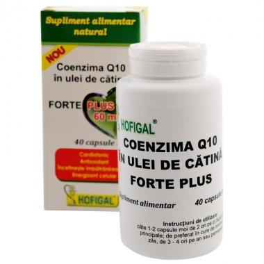 Coenzima Q10 în ulei de cătină Forte Plus 60mg, 40 capsule