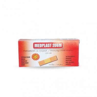 MEDPLAST 206 M pansament (2*6)cm 20 buc