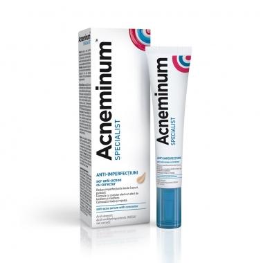 Acneminum Specialist ser anti-acnee cu corector, 10 ml, Aflofarm