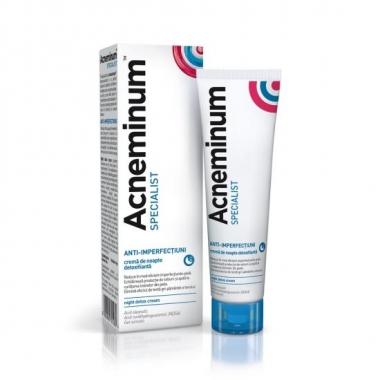 Acneminum Specialist crema de noapte detoxifianta, 30 ml, Aflofarm