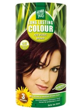 Henna Plus Long Lasting Colour- Vopsea de Par Nuanta 4.67