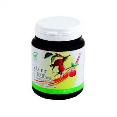 Vitamina C 1000 mg cu macese si acerola zmeura 100 cps