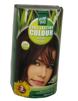 Henna Plus Long Lasting Colour- Vopsea de Par Nuanta 4.03