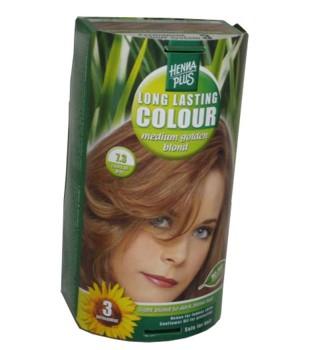 Henna Plus Long Lasting Colour- Vopsea de Par Nuanta 7.3