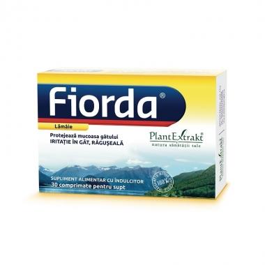 Fiorda cu aromă de lămâie, 30 comprimate, Plant Extrakt