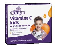 Alinan® Vitamina C Kids portocale, comprimate masticabile