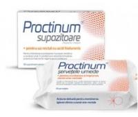 Proctinum- Supozitoare, 10 buc + Șervețele umede, 72 buc Gratis, Zdrovit