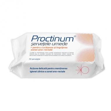 Proctinum servetele hipoalergice,igieno ano-rectala, 72buc, Zdrovit