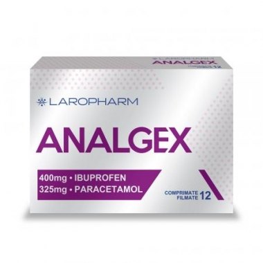 Analgex 400 mg/325 mg, 12 comprimate filmate