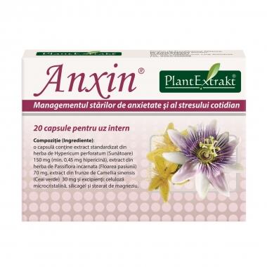Anxin, 20 capsule, Plant Extrakt