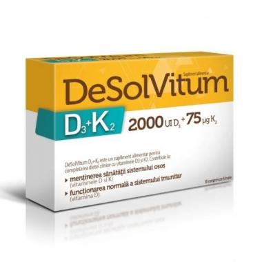 DeSolVitum D3+K2 x 30 comprimate filmate