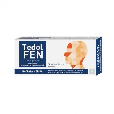 Tedolfen 200 mg/30 mg , 12 comprimate filmate