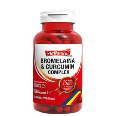 Bromelaina & Curcumin complex, 30 capsule