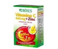 VITAMINA C 600MG+ZINC 60CPR