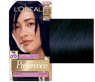L'Oreal Preference Negru Albastrui