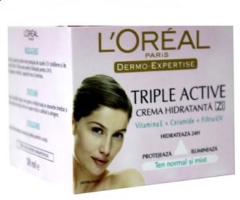 L'Oreal Dermo Expertise Triple Active ten normal si mixt crema de zi
