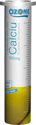 Calciu cu Vitamina D3 efervescent Ozone