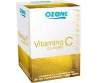 Vitamina C 180 cu aroma lamaie Ozone
