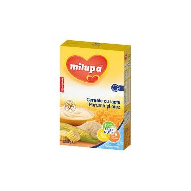 Milupa Cereale cu porumb si orez fara zahar x 250 gr
