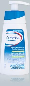 Clearasil Gel-crema 3 in 1 curatare in profunzime