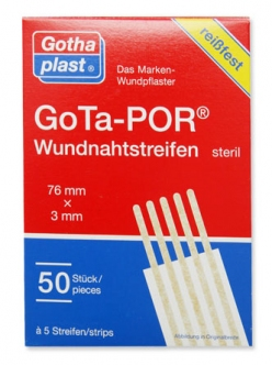 GoTa-POR Skin closure strips plasture steril 76/3cm