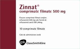 Zinnat 500 mg comprimate