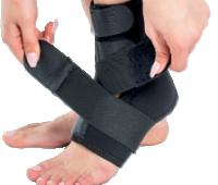 Orteza de glezna mobila cu suport elastic