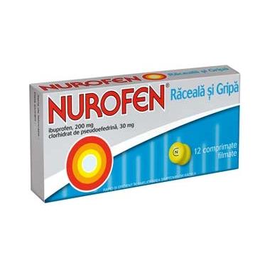 Nurofen raceala si gripa X 12 drajeuri