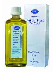 Ulei din ficat de cod natural Lysi