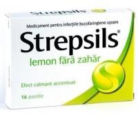 Strepsils Lemon fara zahar X24