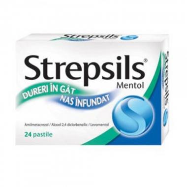 Strepsils Mentol X 24 pastile